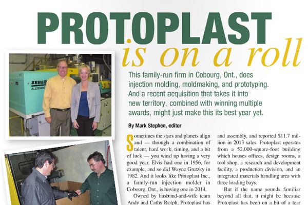 Protoplast Featured in June issue of Canadian Plastics Magazine